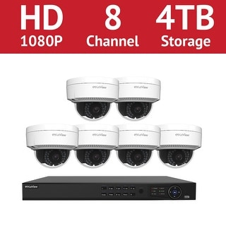 LaView 8 Channel 1080p IP NVR with (6) 1080p Dome Cameras and a 4TB HDD