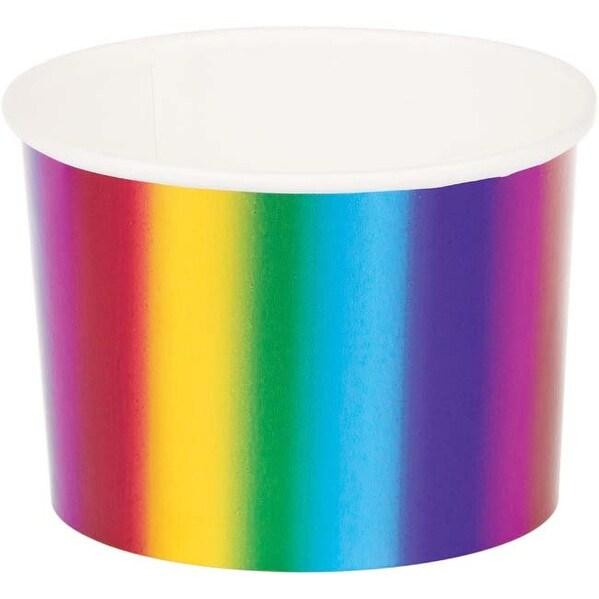 Rainbow Foil Treatcups 6/Pkg-