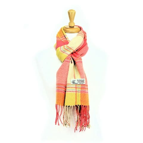 Plaid Cashmere Feel Classic Soft Luxurious Scarf For Men And Women