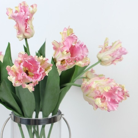 """G Home Collection Luxury Silk Flame Tulip Stem in Light Pink 25"""" Tall"""
