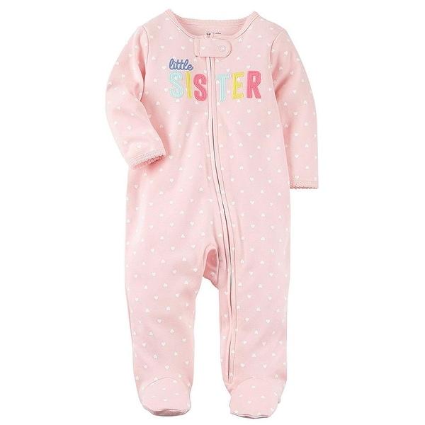 Carters Girls 0-9 Months Sister Pajama - Pink