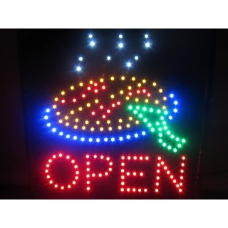 2xhome Pizza Multi-Color LED Restaurant, Business, And Store Sign with Animation Effects & Motion Flashing Capabilities