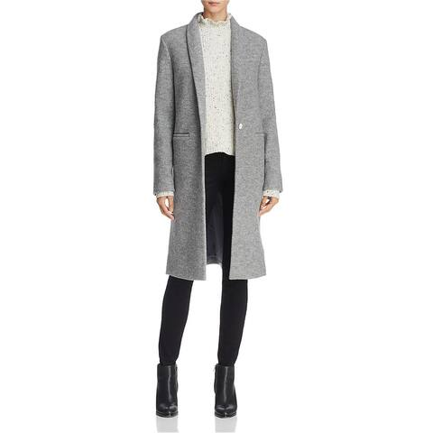 Dylan Gray Womens Virgin Wool Cardi Coat, Grey, Large