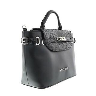 Versace EE1VOBBE4 E899 Black Glitter/Gold  Satchel/Shoulder Bag - black glitter/gold - 12.5-8.5-4