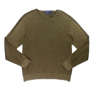 Polo Ralph Lauren NEW Brown Mens Size XL Pullover V-Neck Sweater