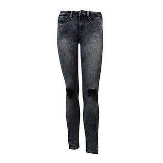 Suede Juniors' Riley Ripped Nymeria Denim Jeggings (Grey Acid Wash, 25) - grey acid wash - 25