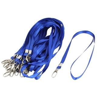 Unique Bargains 36 Pcs Neck Strap ID Card Badge Holder Lanyard School Office Bank Students Stationery Blue