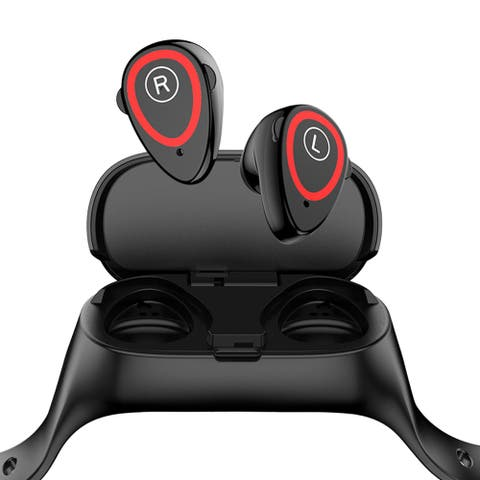 M1 EarBuds & Sports Tracking Watch w/ Realtek v5.0 Sync by Indigi®, HiFi Stereo Quality + Magnetic Charging Case Included
