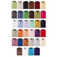 Men's Solid Color Cotton Blend Dress Shirt 1