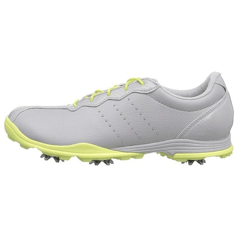 New Adidas Women's Adipure DC Golf Shoes Grey/Frozen Yellow F33617