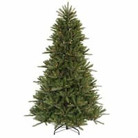 7.5' Pre-Lit Vermont Fir Instant Shape Artificial Christmas Tree - Multi Lights