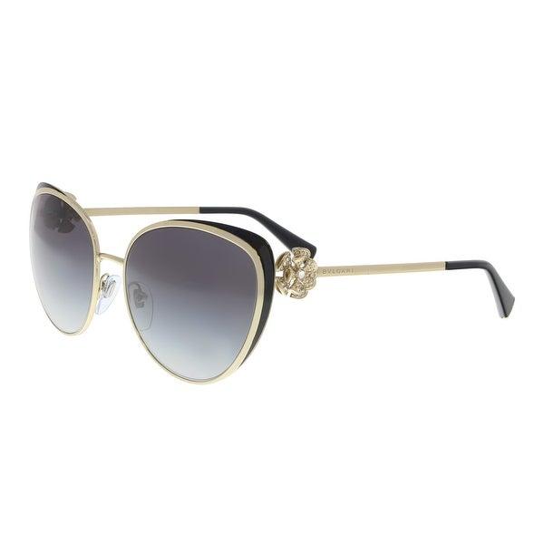 8efb8c35707 Shop Bulgari BV6092B 278 8G Pale Gold  Black Cat eye Sunglasses - 57 ...
