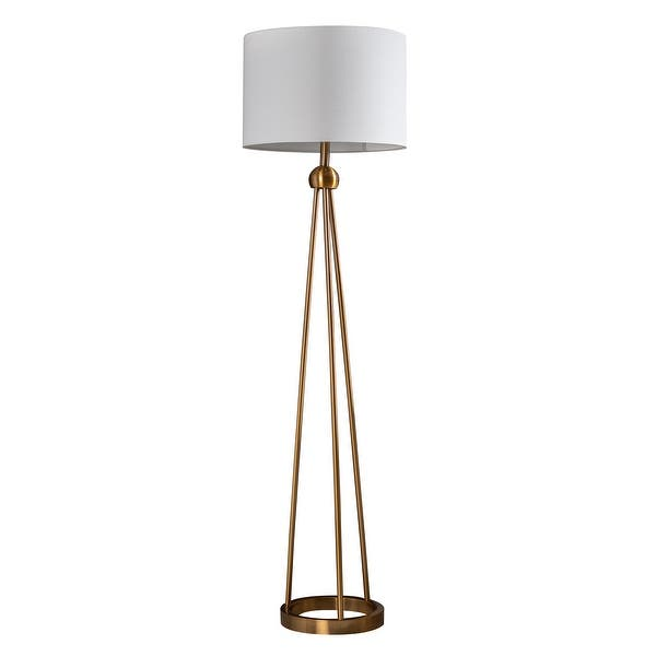 Shop Josephine 59 5 Gold Metal Tripod Floor Lamp On Sale Overstock 31293423