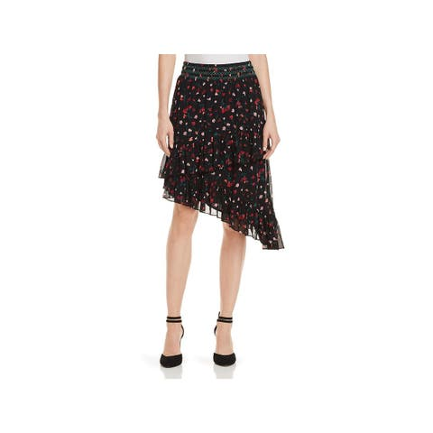 Joie Womens Asymmetrical Skirt Silk Floral