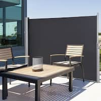 Gymax 118 5 X 63 H Patio Retractable Folding Side Awning Screen Privacy