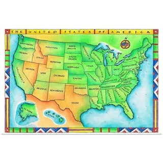 """Map of the USA"" Poster Print"