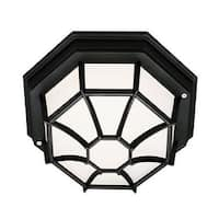 Trans Globe Lighting 40581 Single Light Down Lighting Flush Mount Ceiling Fixture from the Outdoor Collection