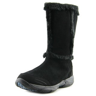 Easy Spirit Elk Women Round Toe Suede Black Winter Boot