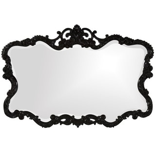 "Delacora HE-211-TLD  Talida 38"" x 27"" Victorian Scroll Frame Beveled Polyurethane Framed Shabby Chic Accent Mirror"