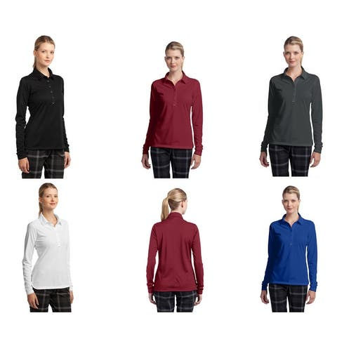 Nike Women's Dri-Fit Long Sleeve Stretch Tech Polo