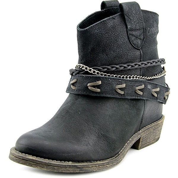 Coolway Caliope Women  Round Toe Leather Black Ankle Boot