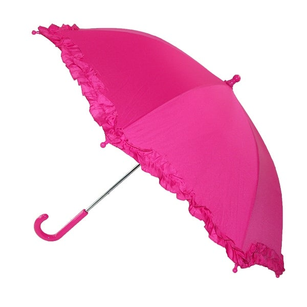 iRain Kids' Hook Handle Ruffled Umbrella