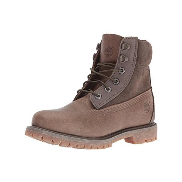 Timberland Womens Waterproof Boots Leather D-Ring - 9.5 medium (b,m)