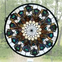 Meyda Tiffany 66805 Stained Glass Tiffany Window from the Peacocks Collection - n/a