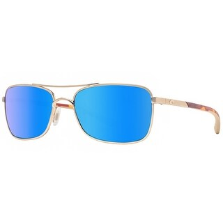 Costa Del Mar Palapa AP64 OBMGLP Rose Gold Blue Mirror Polarized 580G Sunglasses - rose gold - 57mm-18mm-130mm