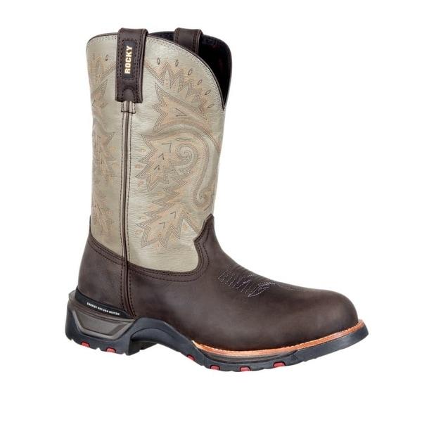 Rocky Western Boots Mens Technoram Waterproof Dark Brown