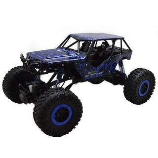 Costway 1/10 Scale 2.4Ghz 4 Wheel Drive Rock Crawler Radio Remote Control RC Car Blue