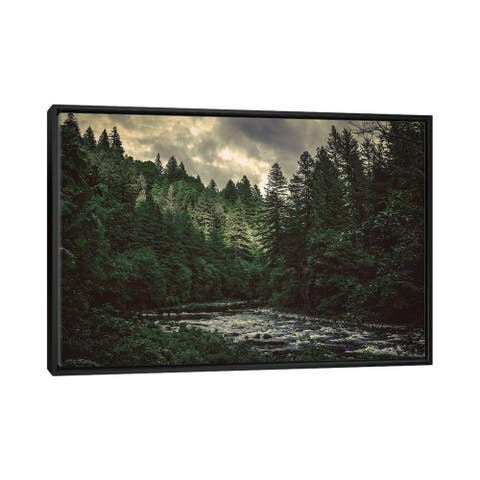 """iCanvas """"Pacific Northwest River And Trees"""" by Nature Magick Framed Canvas Print"""