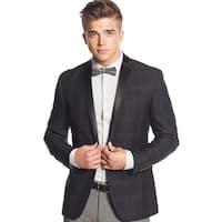 Bar III Mens Slim Fit Plaid Evening Jacket 40 Long Grey Sportcoat Blazer Jacket
