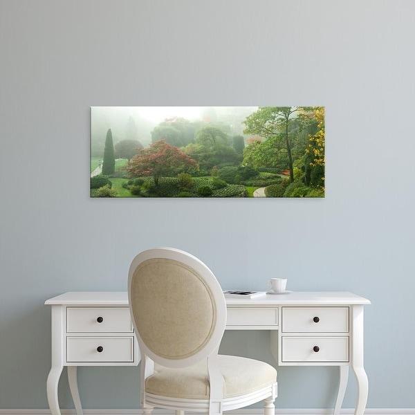 Easy Art Prints Panoramic Image 'Trees, Butchart Gardens, Vancouver Island, British Columbia, Canada' Canvas Art
