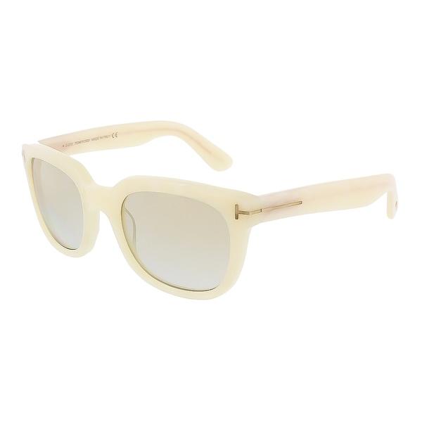 Tom Ford FT0198/S 25G Campbell Ivory Onyx Wayfarer Sunglasses - ivory onyx