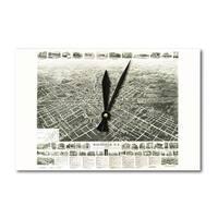 Westfield, New Jersey - Panoramic Map (Acrylic Wall Clock) - acrylic wall clock