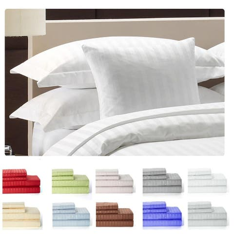 Striped Brushed Microfiber 4-piece Bed Sheet Set