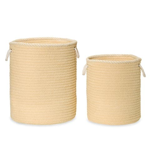 """Soft Chenille Woven Hamper Baskets for Laundry, Toys and all other """"Stuff"""""""