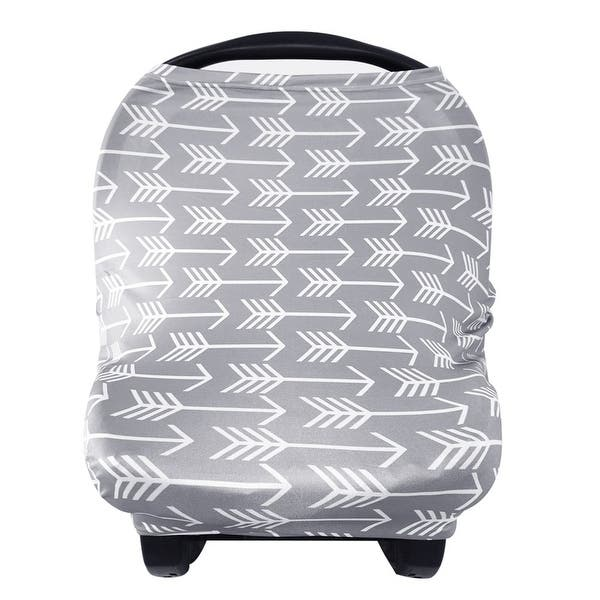 Shop Nursing Cover Breastfeeding Scarf Baby Car Seat Covers Infant Stroller Cover Carseat Canopy For Girls And Boys Grey Arrow Overstock 23110442