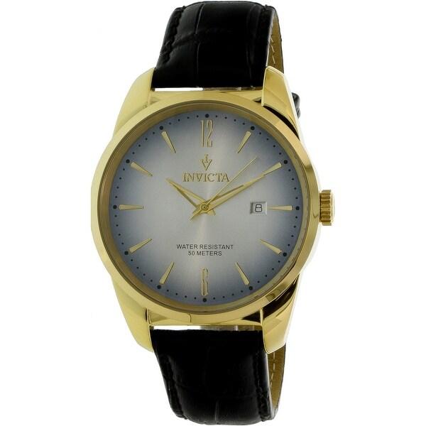 Invicta Men's Vintage 11739 Gold Leather Japanese Quartz Fashion Watch
