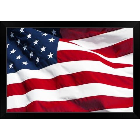 """""""American Flag"""" Black Framed Print"""