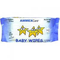 AMMEXCare BWCR Baby Wipe Refills (Refill of 80 wipes)