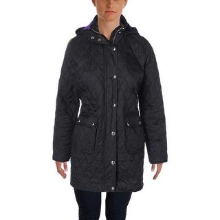 Lauren Ralph Lauren Womens Petites Quilted Snap/Zip Front Coat - pm