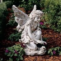 Design Toscano Fiona, the Flower Fairy Sculpture
