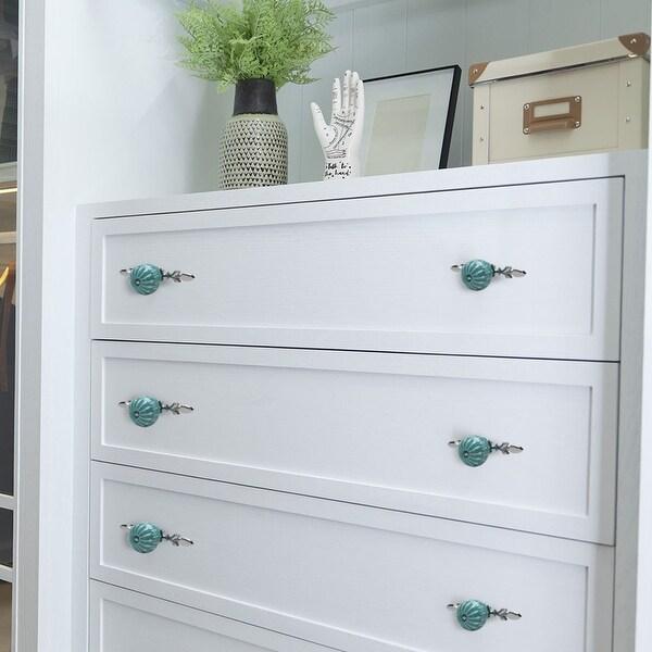 Ceramic Vintage Knobs Drawer Pull Handle Cupboard Wardrobe Kitchen Door Blue