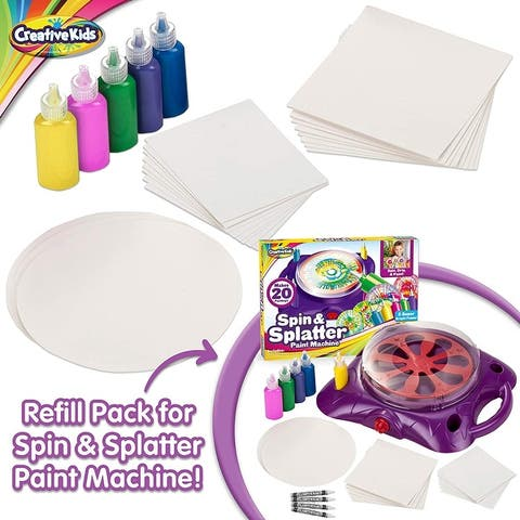 Creative Kids Spin & Paint Refill Pack 12 Cards 5 Bottles of Paint