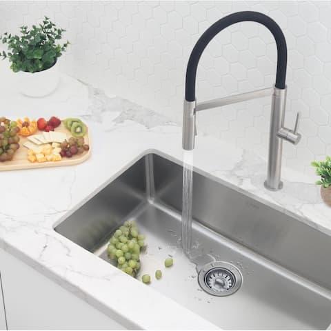 "29 5/8"" L x 17 3/4"" W Undermount or Drop-in Stainless Steel Single Bowl Kitchen Sink (18 Gauge)"