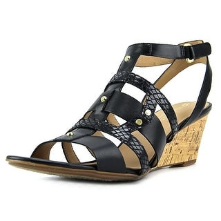 Naturalizer Hania   Open Toe Leather  Wedge Heel