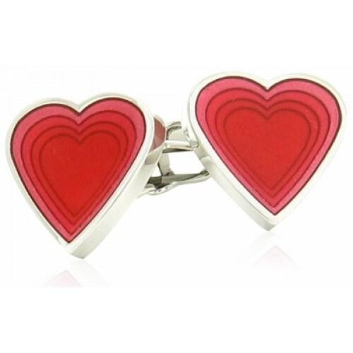 Red Heart Valentine Love Cards Suit Poker Cufflinks
