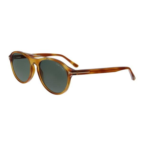 2c3b2b8e05 Tom Ford FT0556 53N Cameron Blonde Havana Aviator Sunglasses - No Size